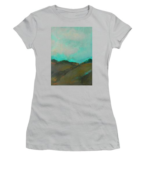 Abstract Landscape - Turquoise Sky Women's T-Shirt (Athletic Fit)