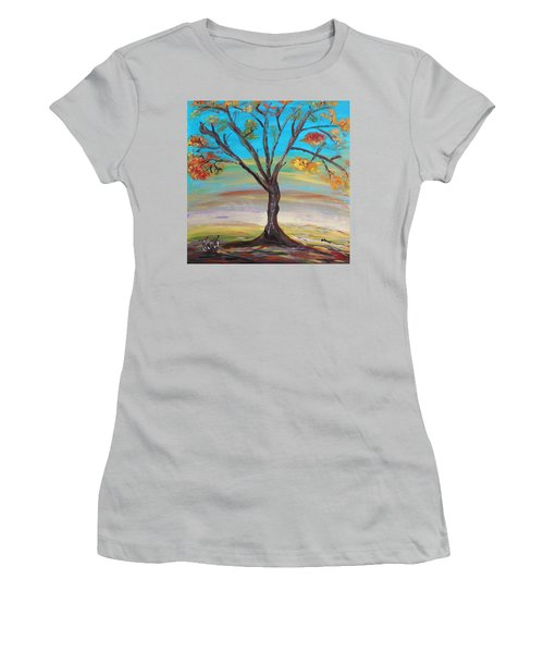 An Autumn Locust Tree Women's T-Shirt (Athletic Fit)