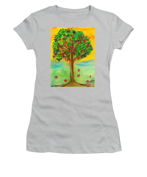 Apple Tree Women's T-Shirt (Athletic Fit)