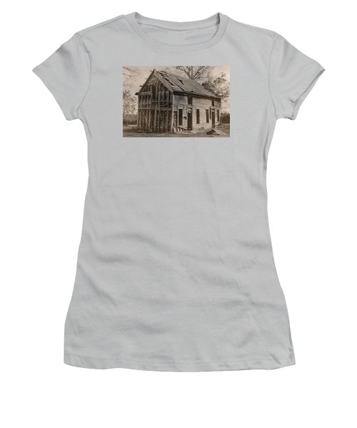 Battered And Leaning Women's T-Shirt (Junior Cut) by Betty Northcutt