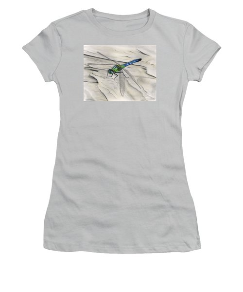 Blue-green Dragonfly Women's T-Shirt (Athletic Fit)