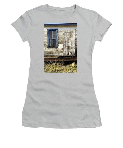 Women's T-Shirt (Junior Cut) featuring the photograph Broken Window by Fran Riley