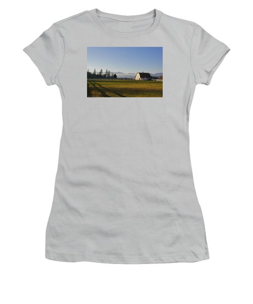 Women's T-Shirt (Junior Cut) featuring the photograph Classic Barn In The Country by Mick Anderson