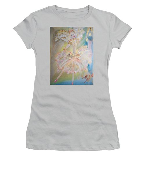 Coffee Fairy Women's T-Shirt (Junior Cut) by Judith Desrosiers