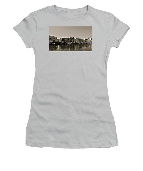 Women's T-Shirt (Junior Cut) featuring the photograph Crete Reflected by Eric Tressler
