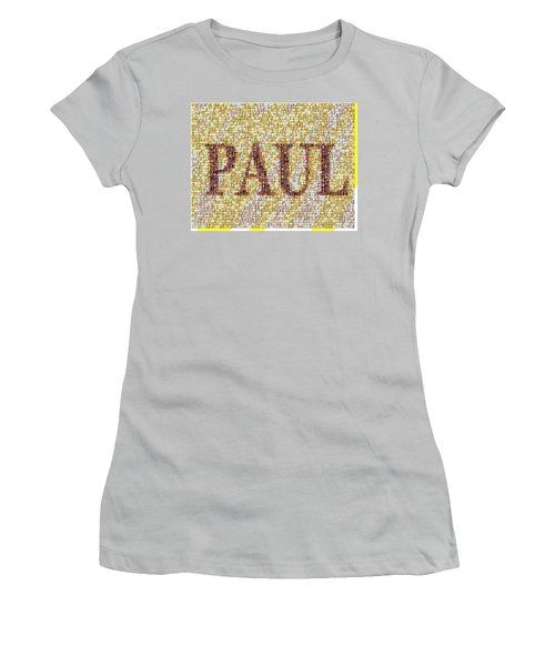 Custom Paul Mosaic Taylor Swift Women's T-Shirt (Junior Cut) by Paul Van Scott