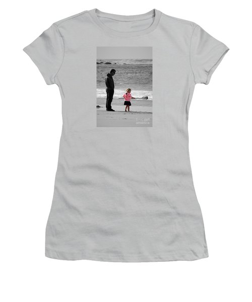 Women's T-Shirt (Junior Cut) featuring the photograph Fish With Me Daddy by Terri Waters