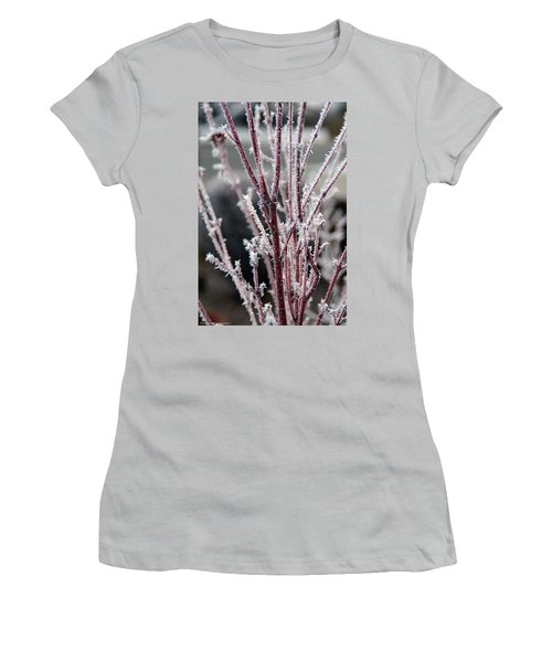 Women's T-Shirt (Junior Cut) featuring the photograph Frosty Coral Maple by Mick Anderson