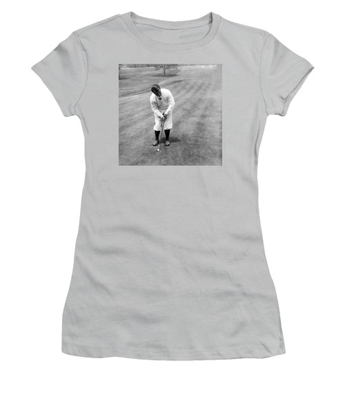 Women's T-Shirt (Junior Cut) featuring the photograph Gene Sarazen Playing Golf by International  Images