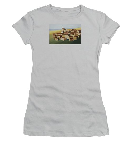 Cubist Village Spain Women's T-Shirt (Athletic Fit)