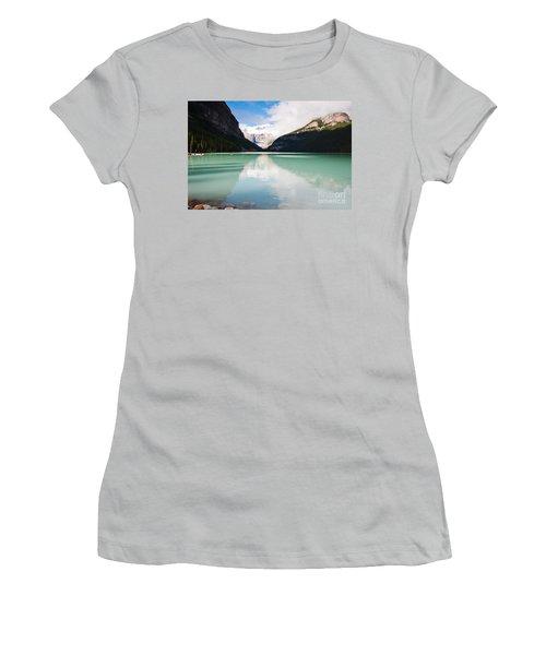 Gorgeous Lake Louise Women's T-Shirt (Junior Cut) by Cheryl Baxter