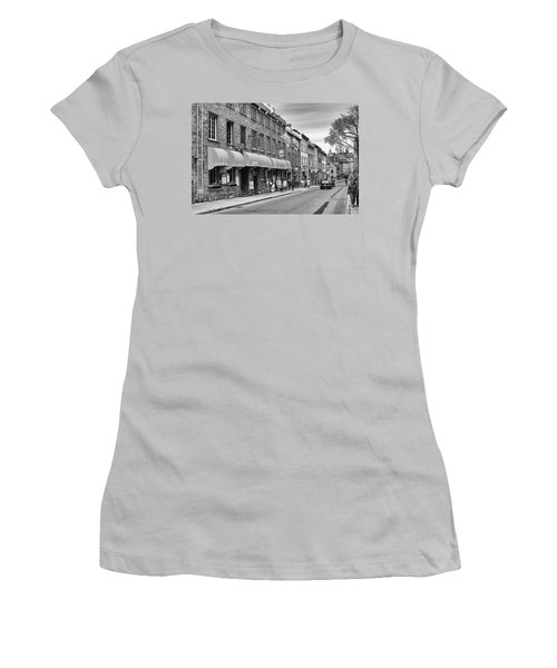 Women's T-Shirt (Junior Cut) featuring the photograph Grande Allee by Eunice Gibb