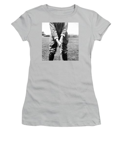Women's T-Shirt (Junior Cut) featuring the photograph Harry Vardon Displays His Overlap Grip by International  Images