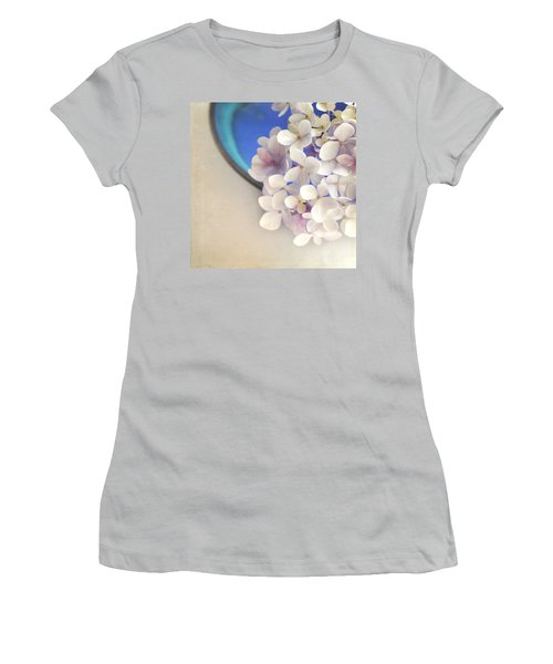 Hydrangeas In Blue Bowl Women's T-Shirt (Athletic Fit)