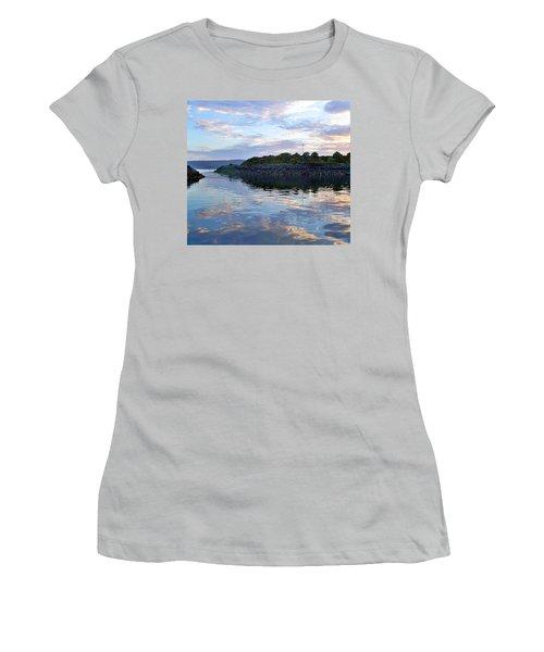 Women's T-Shirt (Junior Cut) featuring the photograph Inverkip Marina by Lynn Bolt