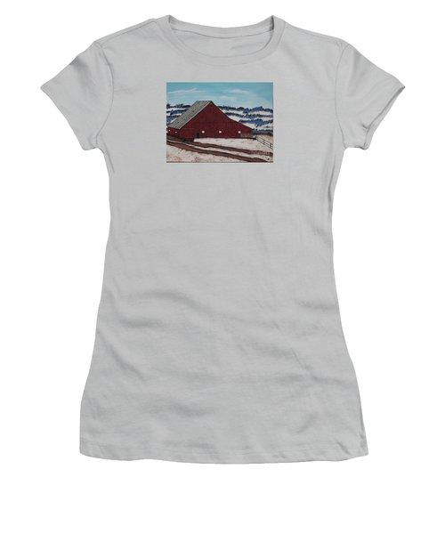 Women's T-Shirt (Junior Cut) featuring the painting Keystone Farm by Jeffrey Koss