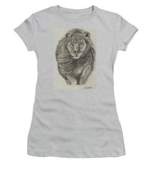 Lion Women's T-Shirt (Junior Cut) by Christy Saunders Church