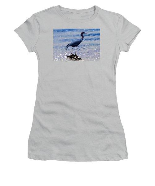 Women's T-Shirt (Junior Cut) featuring the photograph Lit'l Blue by Elizabeth Winter