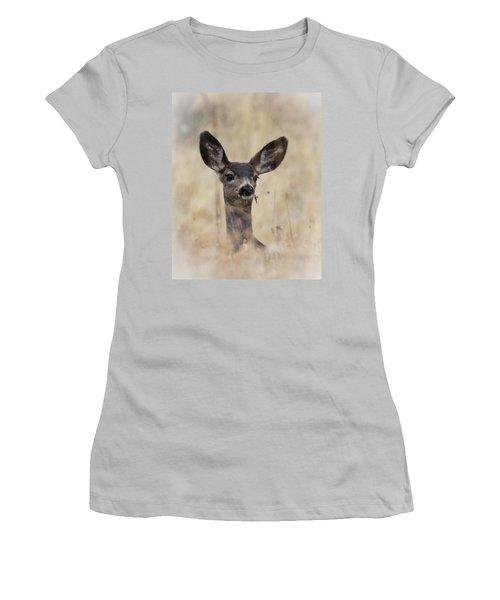 Little Fawn Women's T-Shirt (Junior Cut) by Steve McKinzie