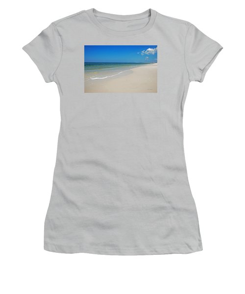 Mexico Beach Women's T-Shirt (Junior Cut) by Kay Lovingood