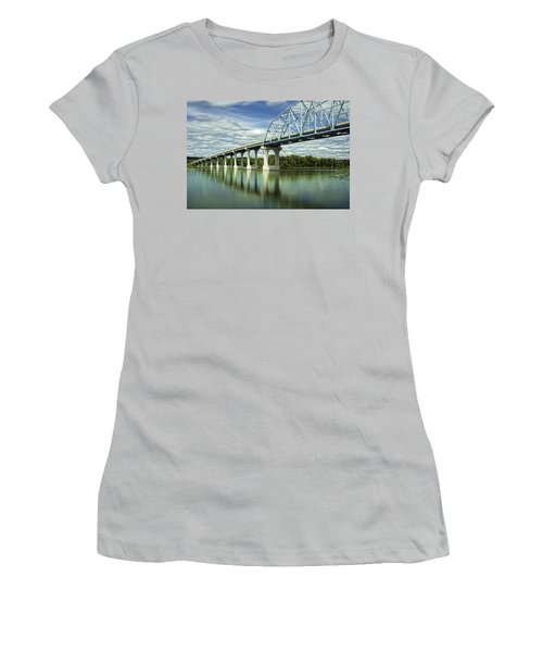Women's T-Shirt (Junior Cut) featuring the photograph Mississippi River At Wabasha Minnesota by Tom Gort