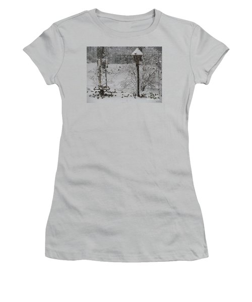 Women's T-Shirt (Junior Cut) featuring the photograph My Backyard by Donna Brown