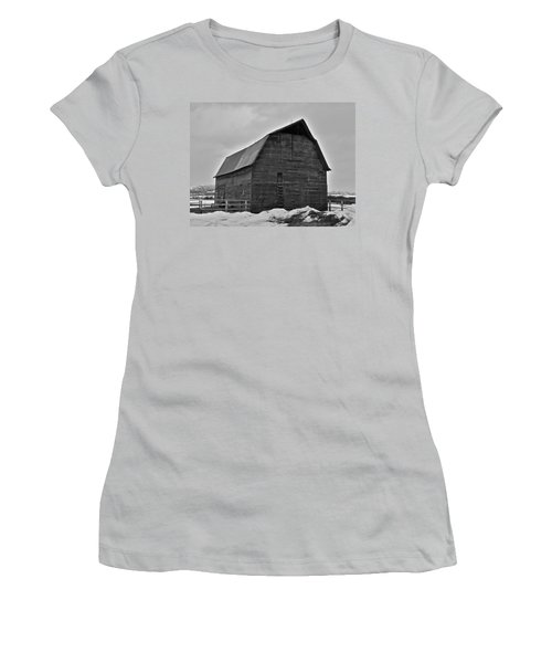 Women's T-Shirt (Junior Cut) featuring the photograph Noble Barn by Eric Tressler