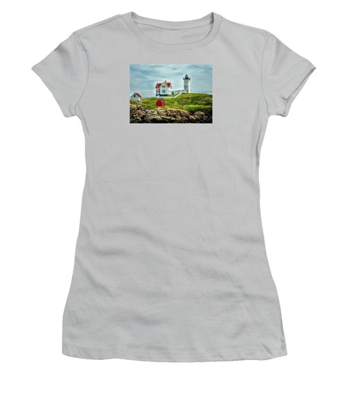 Nubble Lighthouse Women's T-Shirt (Athletic Fit)