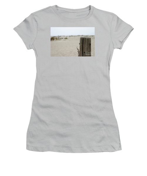 Old Fence Pole Women's T-Shirt (Junior Cut) by Henrik Lehnerer
