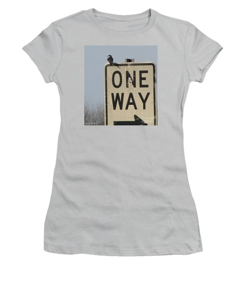 One Way Women's T-Shirt (Athletic Fit)