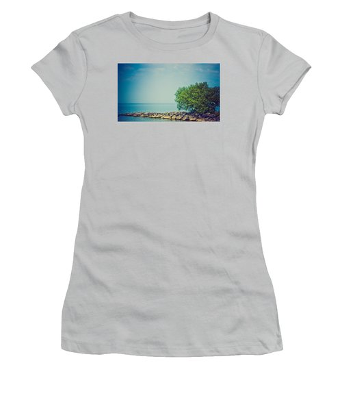 Women's T-Shirt (Junior Cut) featuring the photograph Paradise Cove by Sara Frank