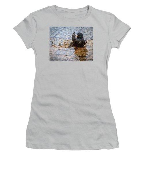 Public Bathing Women's T-Shirt (Athletic Fit)