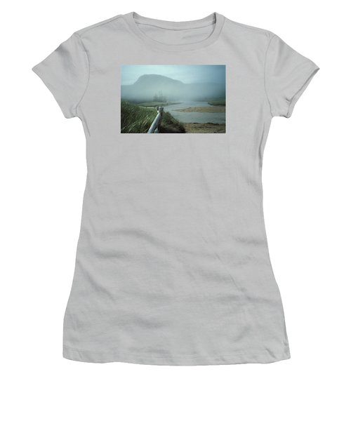 Sand Beach Fog Women's T-Shirt (Athletic Fit)