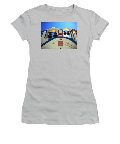 Women's T-Shirt (Junior Cut) featuring the photograph Santorini Thirasia Island Greece by Colette V Hera  Guggenheim