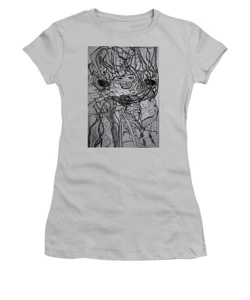 Women's T-Shirt (Junior Cut) featuring the drawing Shango by Gloria Ssali