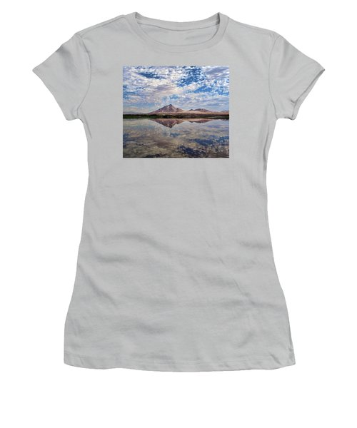 Women's T-Shirt (Junior Cut) featuring the photograph Skies Illusion by Tammy Espino
