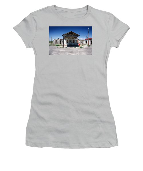 Women's T-Shirt (Junior Cut) featuring the photograph Somewhere On The Old Pecos Highway Number 4 by Lon Casler Bixby