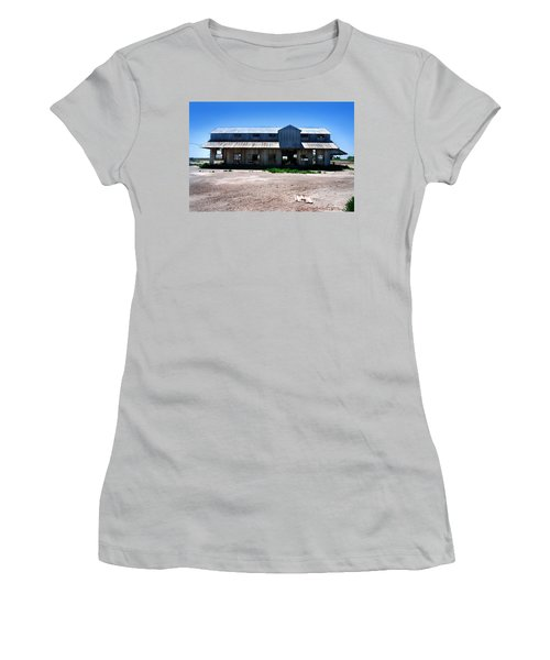 Women's T-Shirt (Junior Cut) featuring the photograph Somewhere On The Old Pecos Highway Number 6 by Lon Casler Bixby