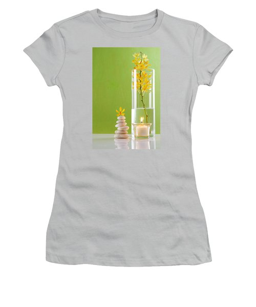 Spa Concepts With Green Background Women's T-Shirt (Athletic Fit)