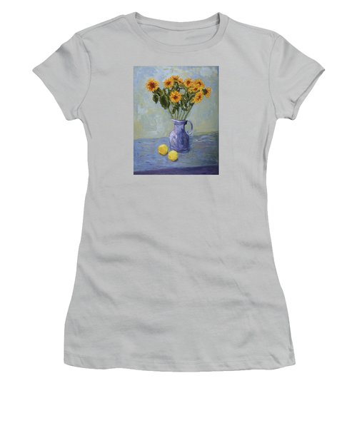 Sunflowers And Lemons Women's T-Shirt (Athletic Fit)