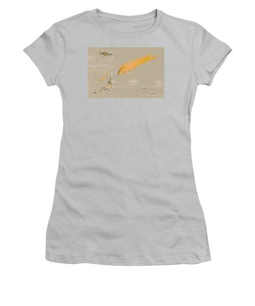 The Beast Afoot Women's T-Shirt (Junior Cut) by Kevin McLaughlin
