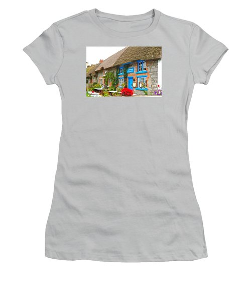 Women's T-Shirt (Junior Cut) featuring the photograph The Blue Door by Charlie and Norma Brock