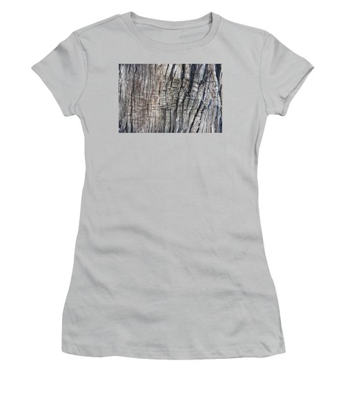 Tree Bark No. 1 Stress Lines Women's T-Shirt (Junior Cut) by Lynn Palmer