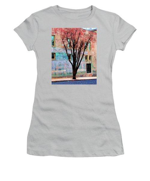 Women's T-Shirt (Junior Cut) featuring the photograph Wall Wth Secrets by Lizi Beard-Ward