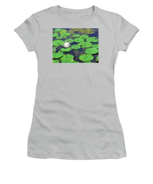 Women's T-Shirt (Junior Cut) featuring the photograph Water Lily by Clara Sue Beym