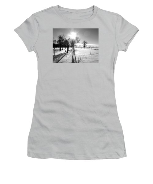 Winter Shadows Women's T-Shirt (Athletic Fit)