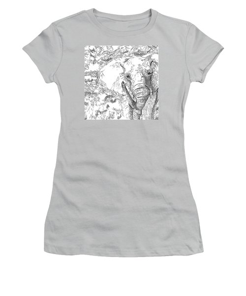 02 Of 30 Elephant Women's T-Shirt (Athletic Fit)