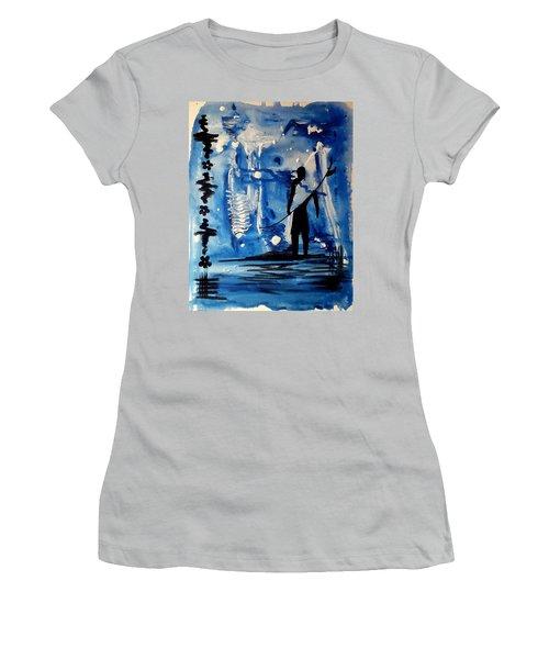 Badsurfer  Women's T-Shirt (Athletic Fit)