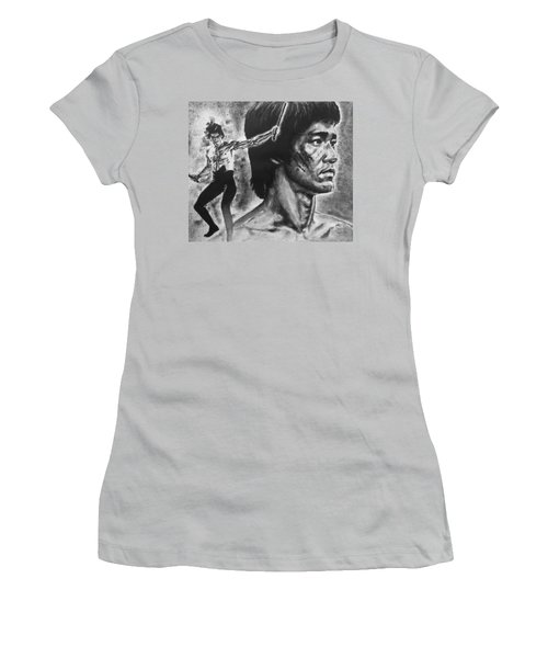 Bruce Lee Women's T-Shirt (Junior Cut) by Darryl Matthews