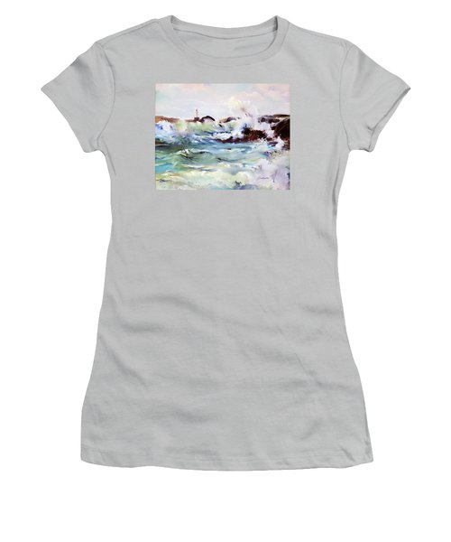 Churning Surf Women's T-Shirt (Athletic Fit)
